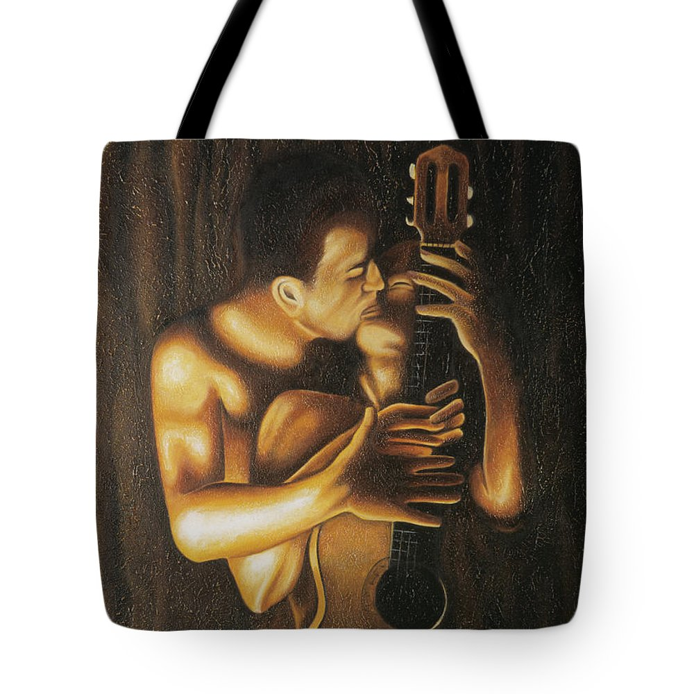 Acrylic Tote Bag featuring the painting La Serenata by Arturo Vilmenay