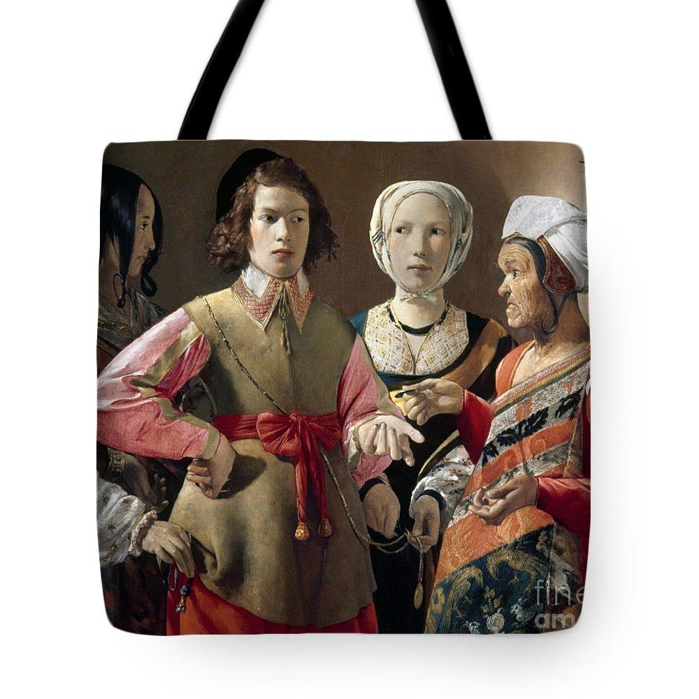 Artcom Tote Bag featuring the photograph La Tour: Fortune Teller by Granger