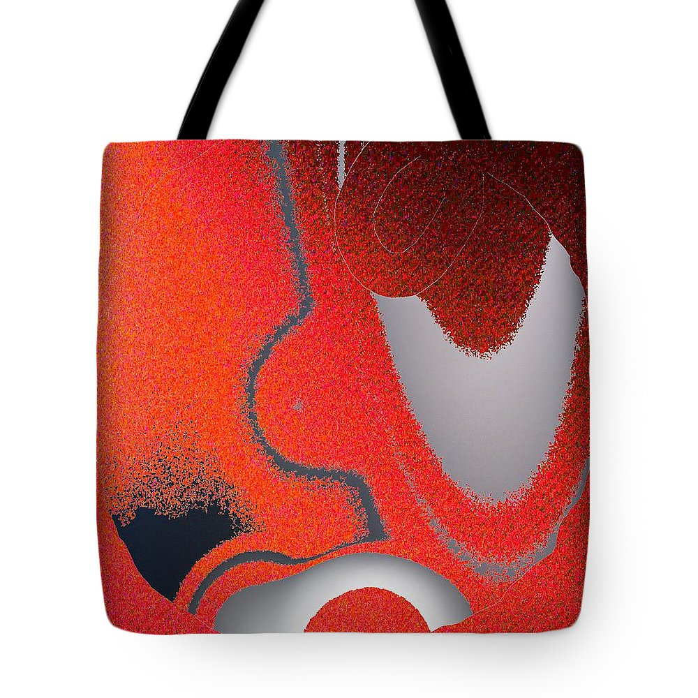 Abstract Tote Bag featuring the digital art Labremains by Pharris Art