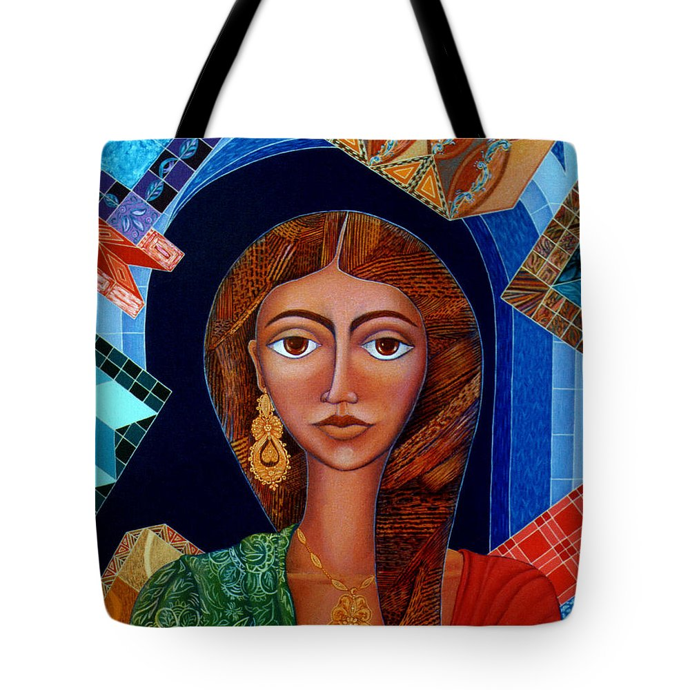 Painting Tote Bag featuring the painting Labyrinth Of Memoirs by Madalena Lobao-Tello
