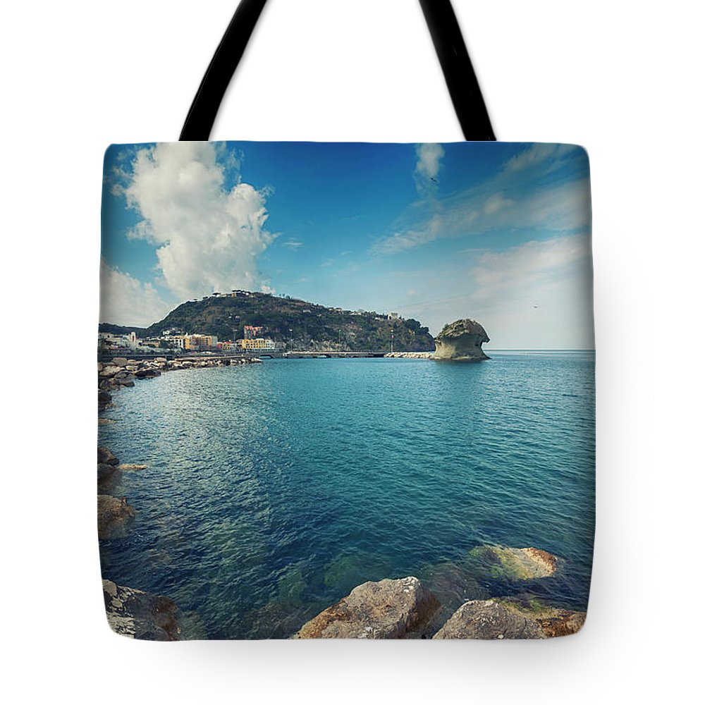 Ischia Tote Bag featuring the photograph Lacco Ameno Harbour , Ischia Island by Ariadna De Raadt