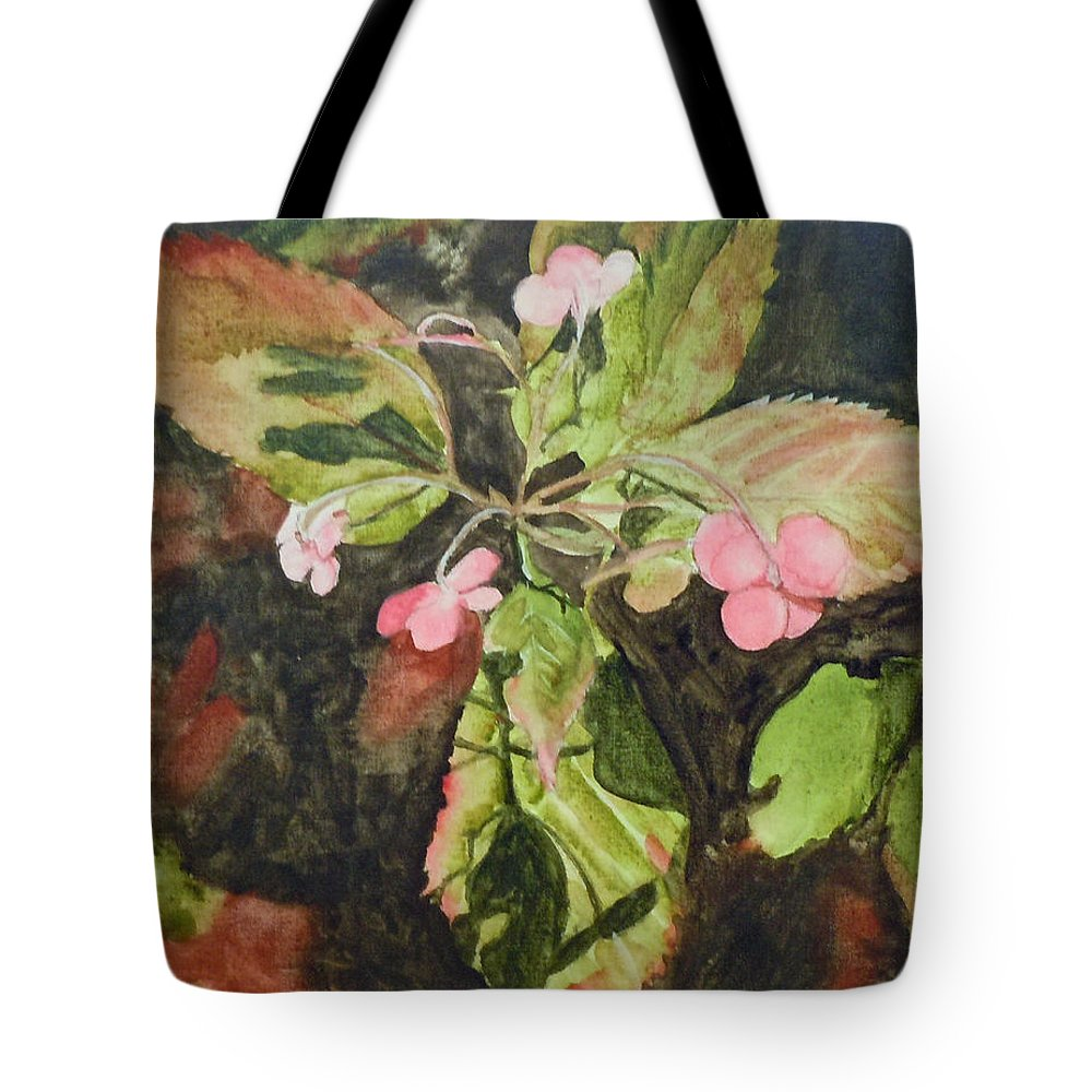 Flowers Tote Bag featuring the painting Lace Cap 1 by Jean Blackmer