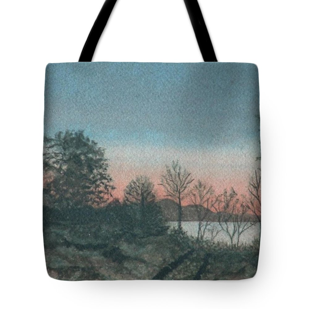 Lake Tote Bag featuring the painting Lace Morning by Lynn ACourt