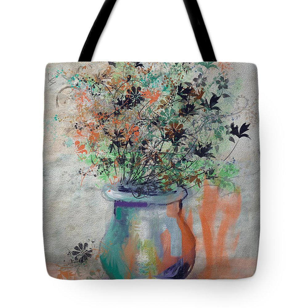 Flowers Tote Bag featuring the digital art Lacy Bouquet by Arline Wagner