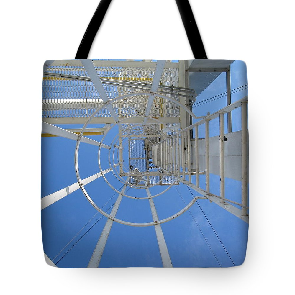 Abstract Tote Bag featuring the photograph Ladder by Dylan Punke