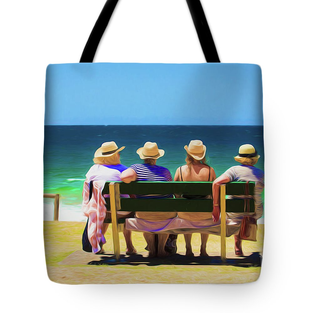 Ladies In Hats Tote Bag featuring the photograph Ladies day out by Sheila Smart Fine Art Photography