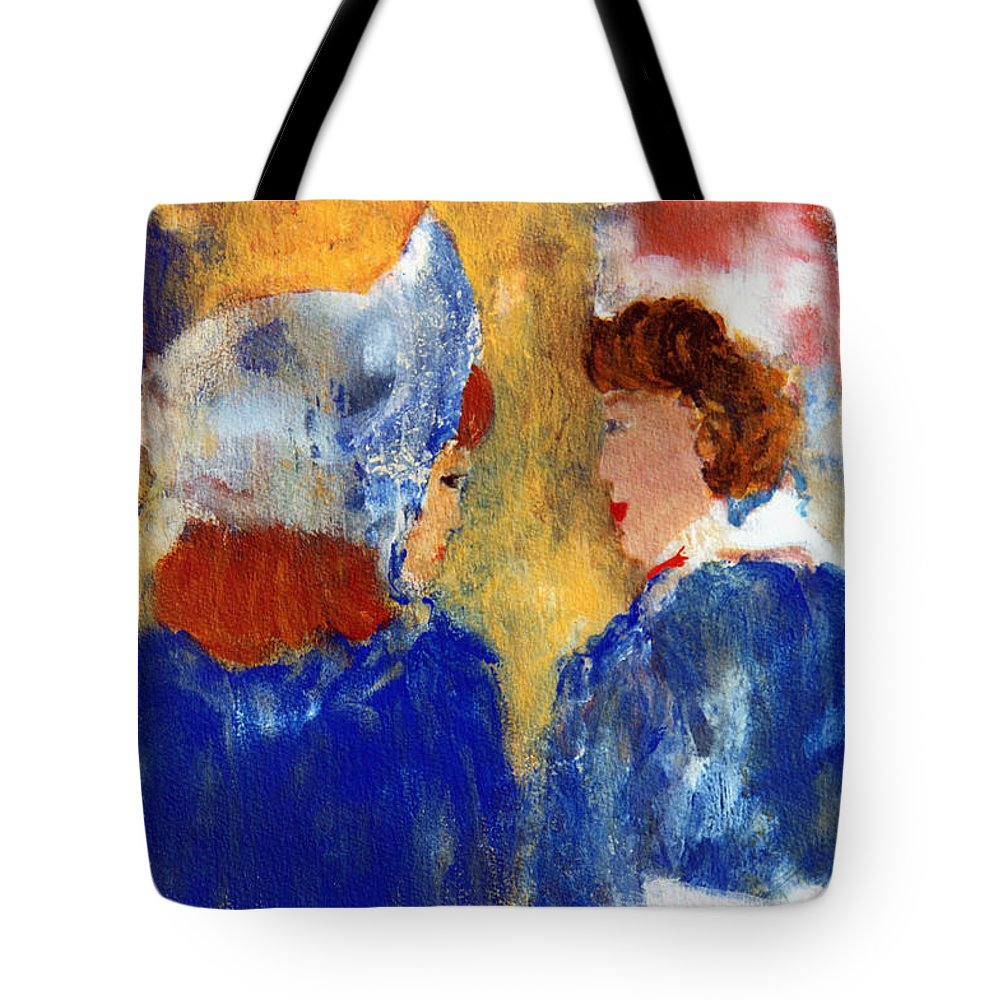 Ladies Tote Bag featuring the painting Ladies Day Out by Pamela Parsons