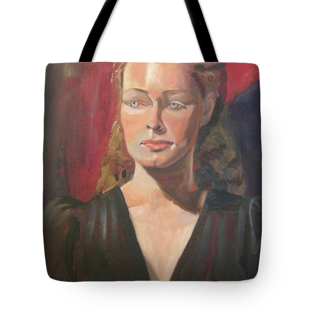 Portrait Tote Bag featuring the painting Lady Ann by Lilibeth Andre