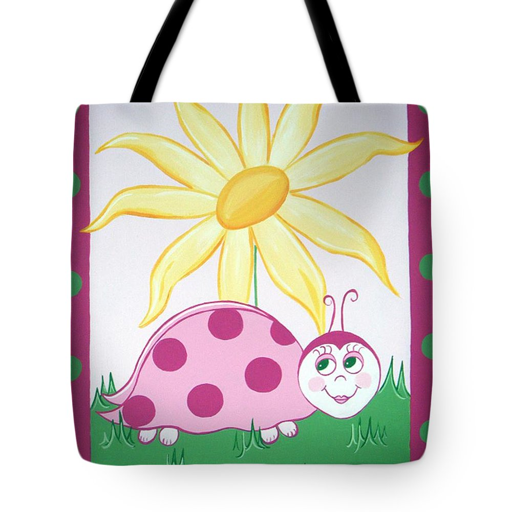 Ladybug Tote Bag featuring the painting Lady Bug by Valerie Carpenter