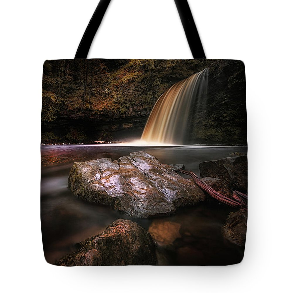 Sgwd Gwladus Tote Bag featuring the photograph Lady Falls Waterfall Country by Leighton Collins