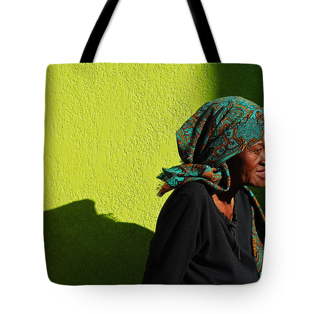 Africa Tote Bag featuring the photograph Lady In Green by Skip Hunt