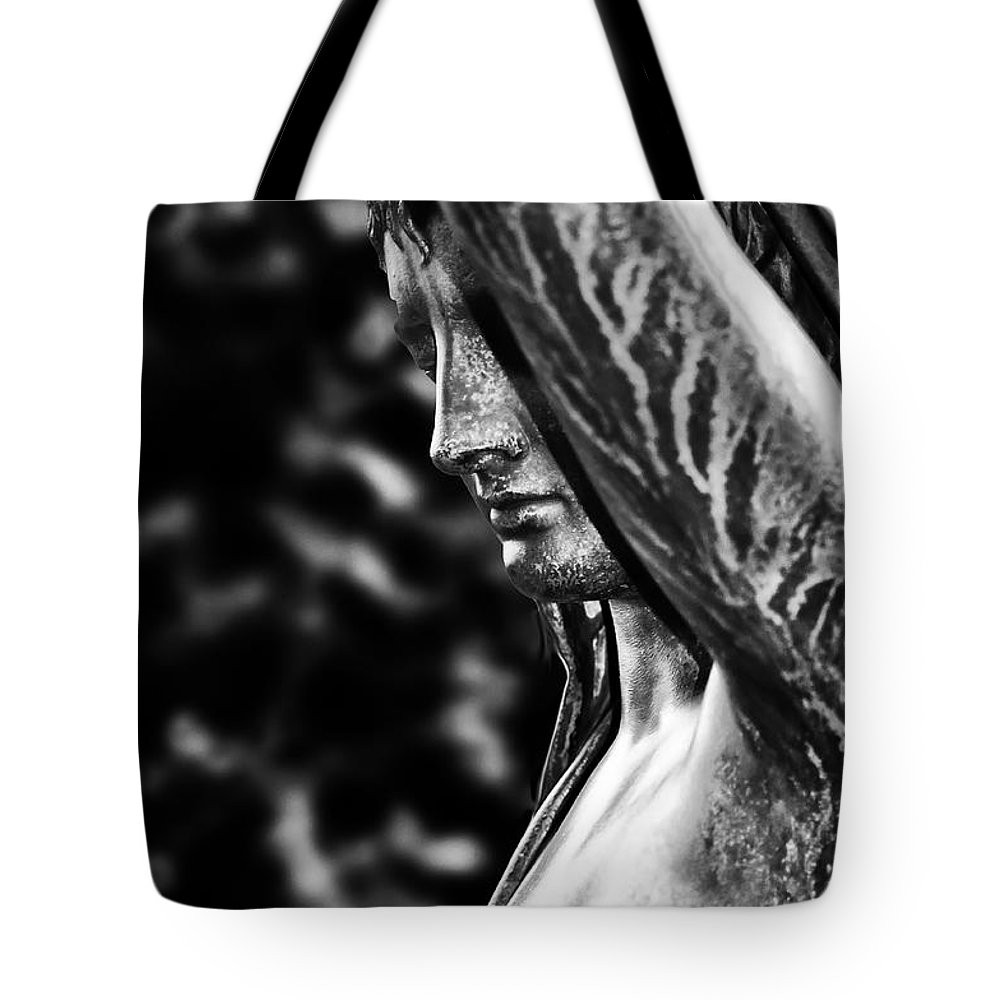 Fairmount Park Tote Bag featuring the photograph Lady In The Garden 1 by Bill Cannon