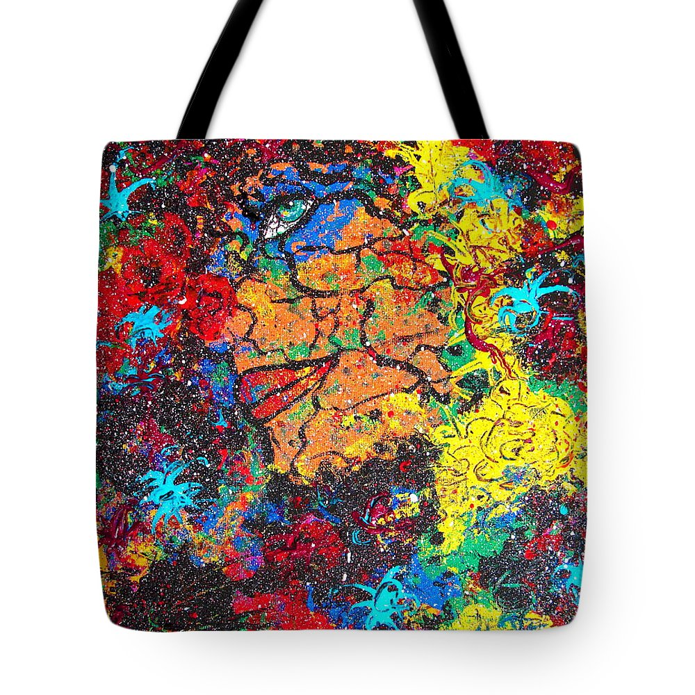 Woman Tote Bag featuring the painting Lady Of Mystery by Natalie Holland