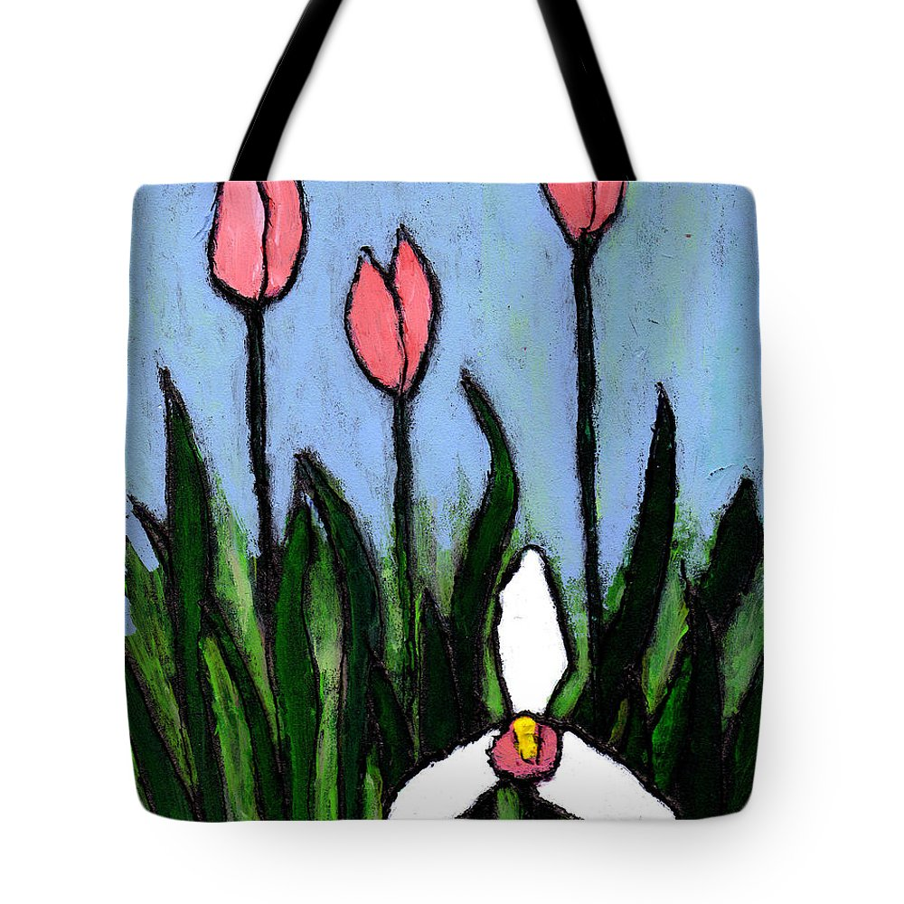 Flowers Tote Bag featuring the painting Lady Slipper And Court by Wayne Potrafka