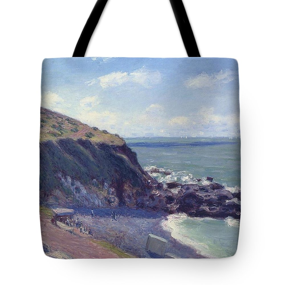 Lady's Cove Tote Bag featuring the painting Ladys Cove by MotionAge Designs