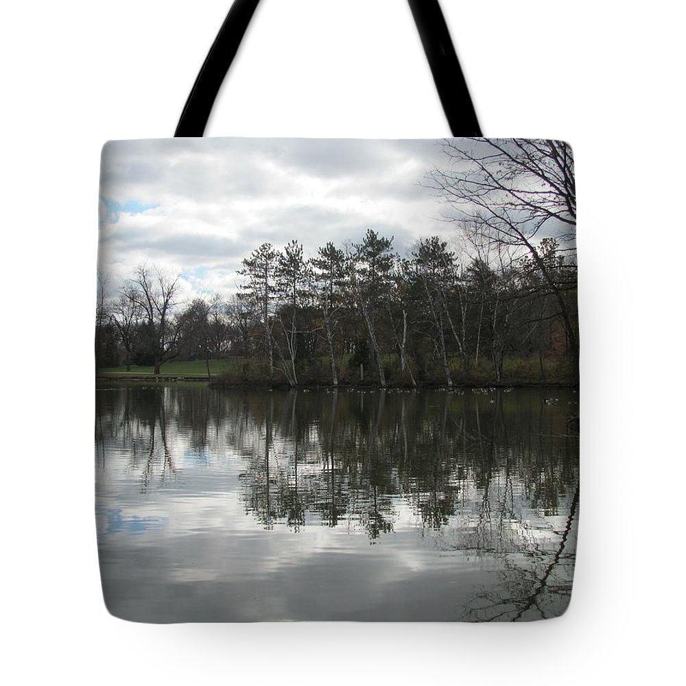 Lagoon Tote Bag featuring the photograph Lagoon Reflection 1 by Anita Burgermeister