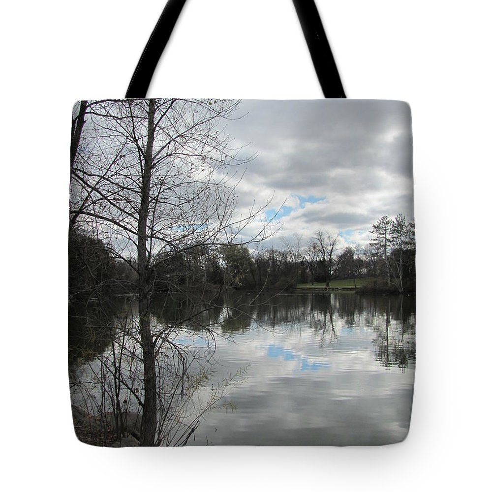 Lagoon Tote Bag featuring the photograph Lagoon Reflections 2 by Anita Burgermeister