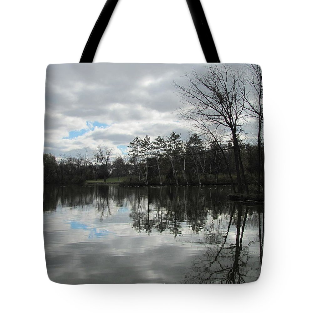 Lagoon Tote Bag featuring the photograph Lagoon Reflections 4 by Anita Burgermeister
