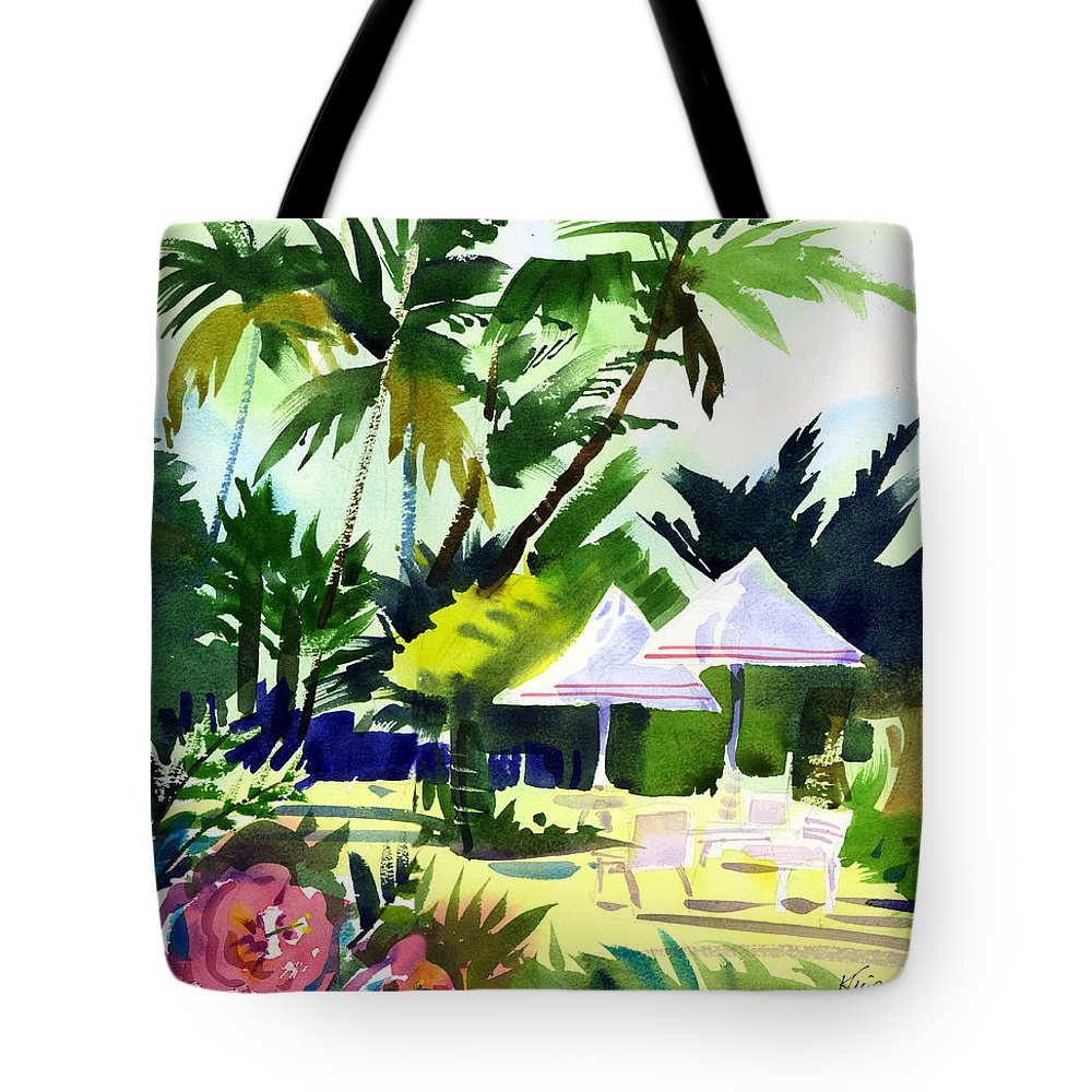Hawaii Tote Bag featuring the painting Lahaina Afternoon by Lee Klingenberg