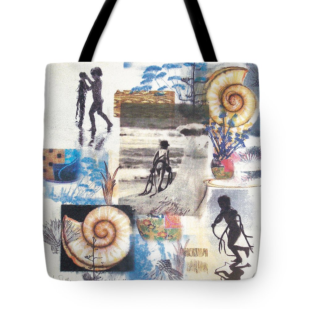Abstract Tote Bag featuring the painting Lajolla by Valerie Meotti