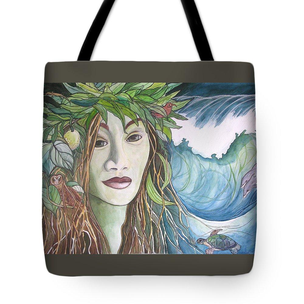 Laka Tote Bag featuring the painting Laka by Kimberly Kirk