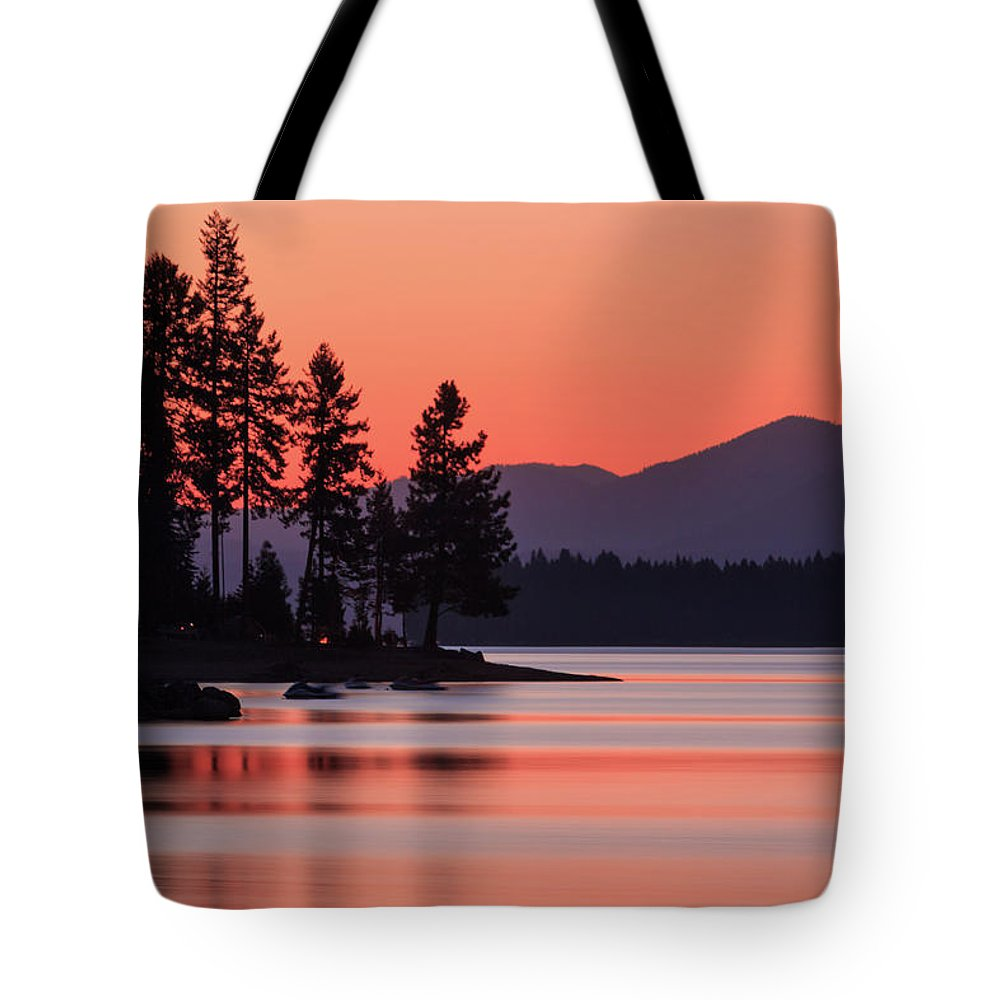 Landscape Tote Bag featuring the photograph Lake Almanor Twilight by James Eddy