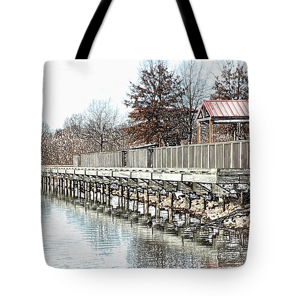 Lakes Tote Bag featuring the photograph Lake by Amanda Barcon