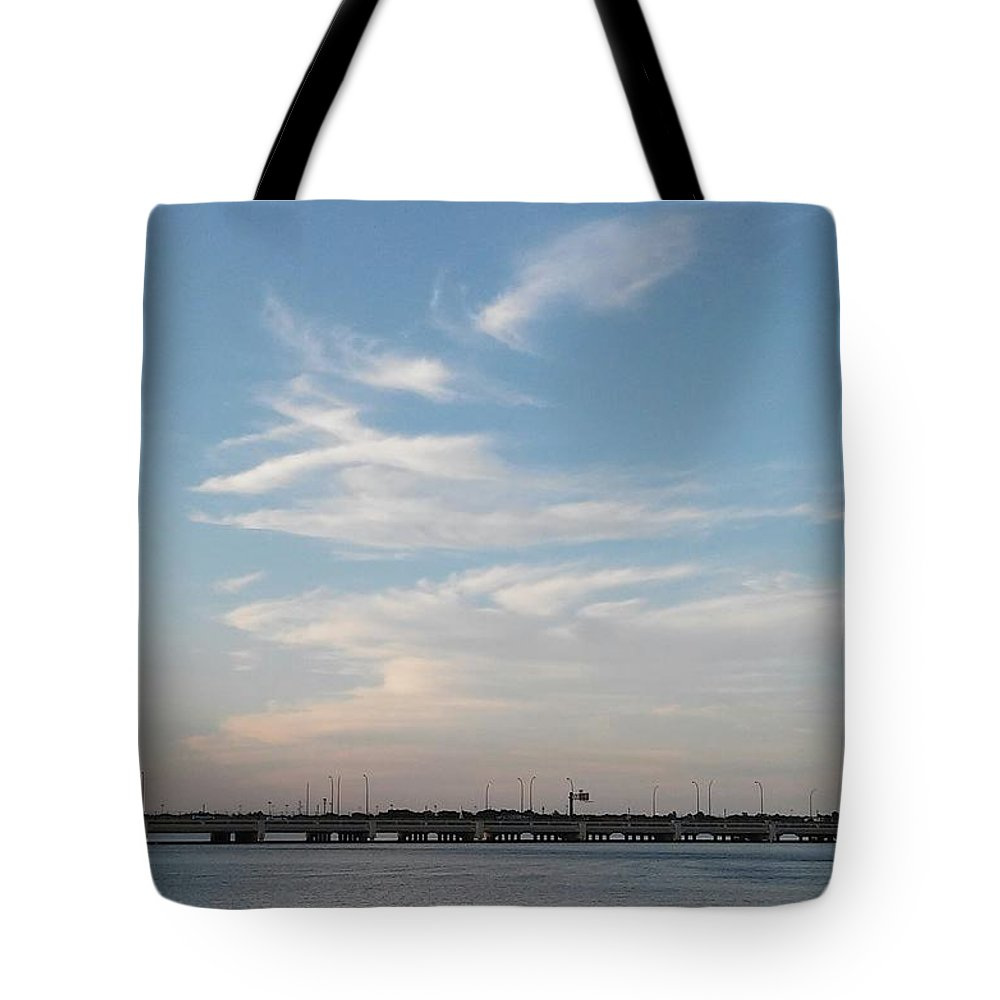 Lake And Clouds Tote Bag featuring the photograph Lake And Clouds2 by John Hiatt