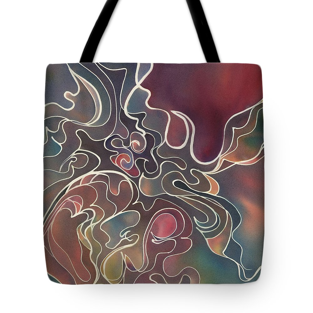 Watercolor Tote Bag featuring the painting Lake Bottom II by Johanna Axelrod