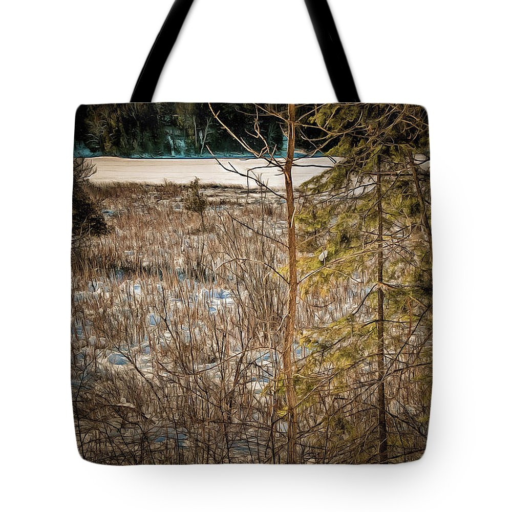 Tote Bag featuring the photograph Lake Edge by Chroma Photographer