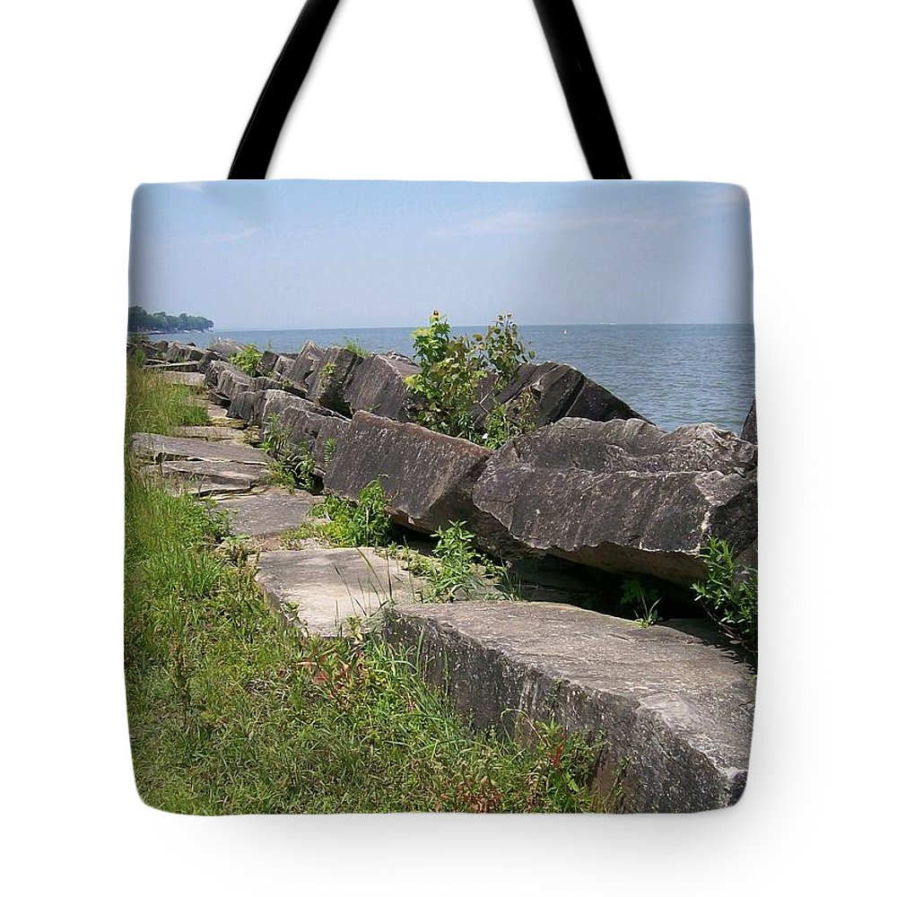 Lake Tote Bag featuring the photograph Lake Front Park by Sara Raber