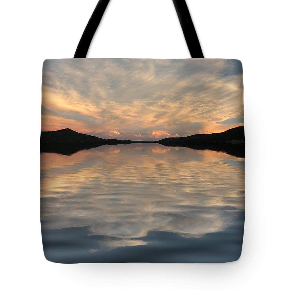 Water Tote Bag featuring the photograph Lake Front Sunset by Jerry McElroy