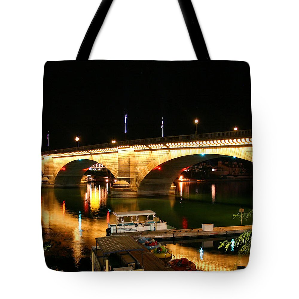 London Bridge Tote Bag featuring the photograph Lake Havasu by Kristin Elmquist