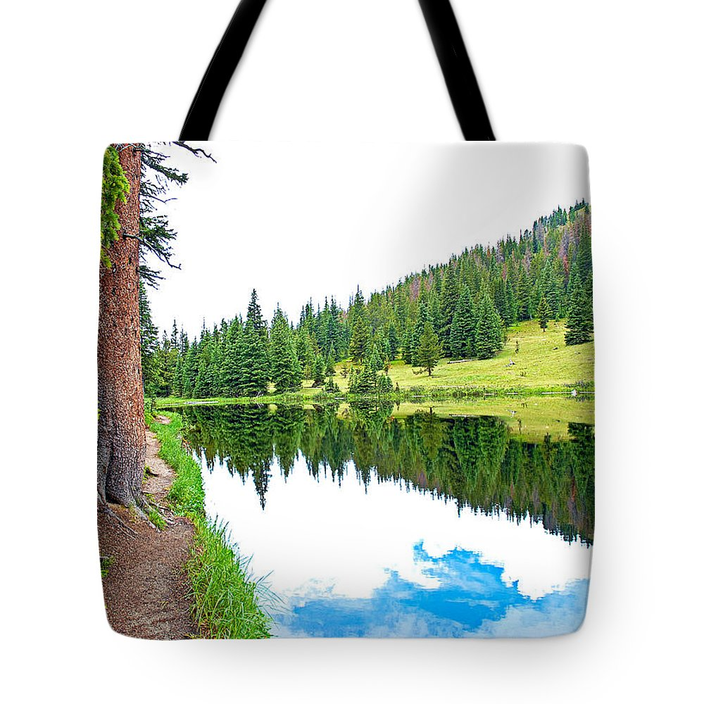 Lake Tote Bag featuring the photograph Lake Irene 12-3 by Robert Meyers-Lussier