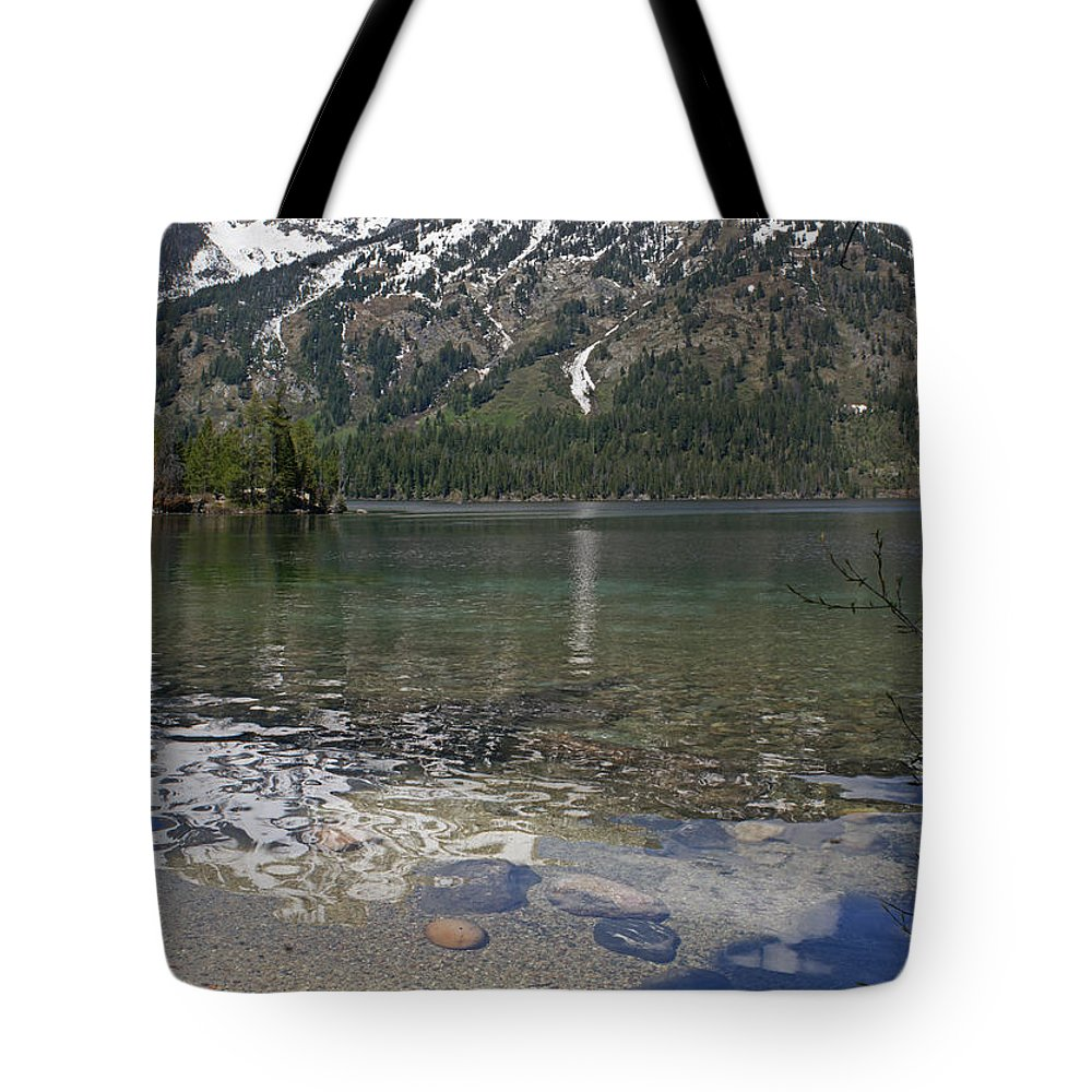 Grand Tetons Tote Bag featuring the photograph Lake Jenny Grand Tetons by Heather Coen