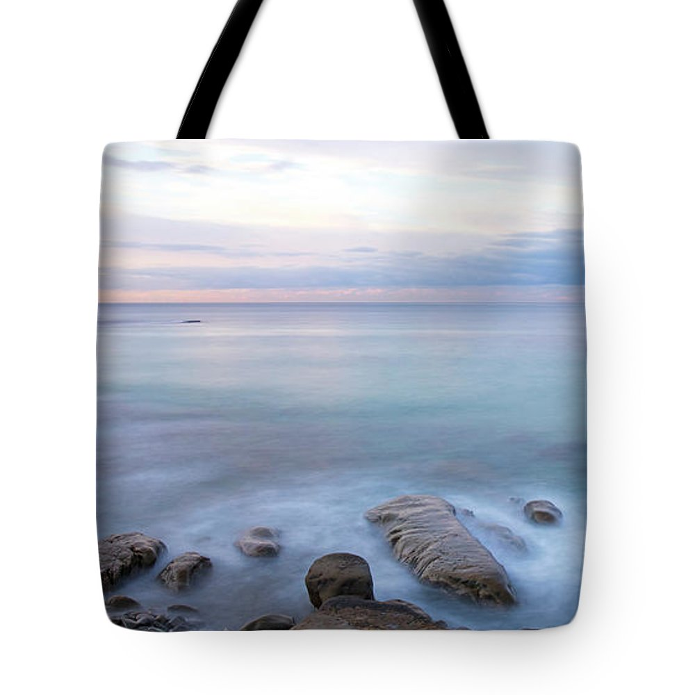 Lake La Jolla Tote Bag featuring the photograph Lake La Jolla Pano by Michael Sangiolo