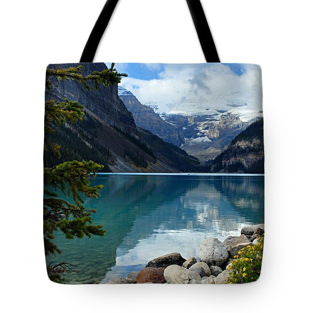 Lake Louise Tote Bag featuring the photograph Lake Louise 2 by Larry Ricker