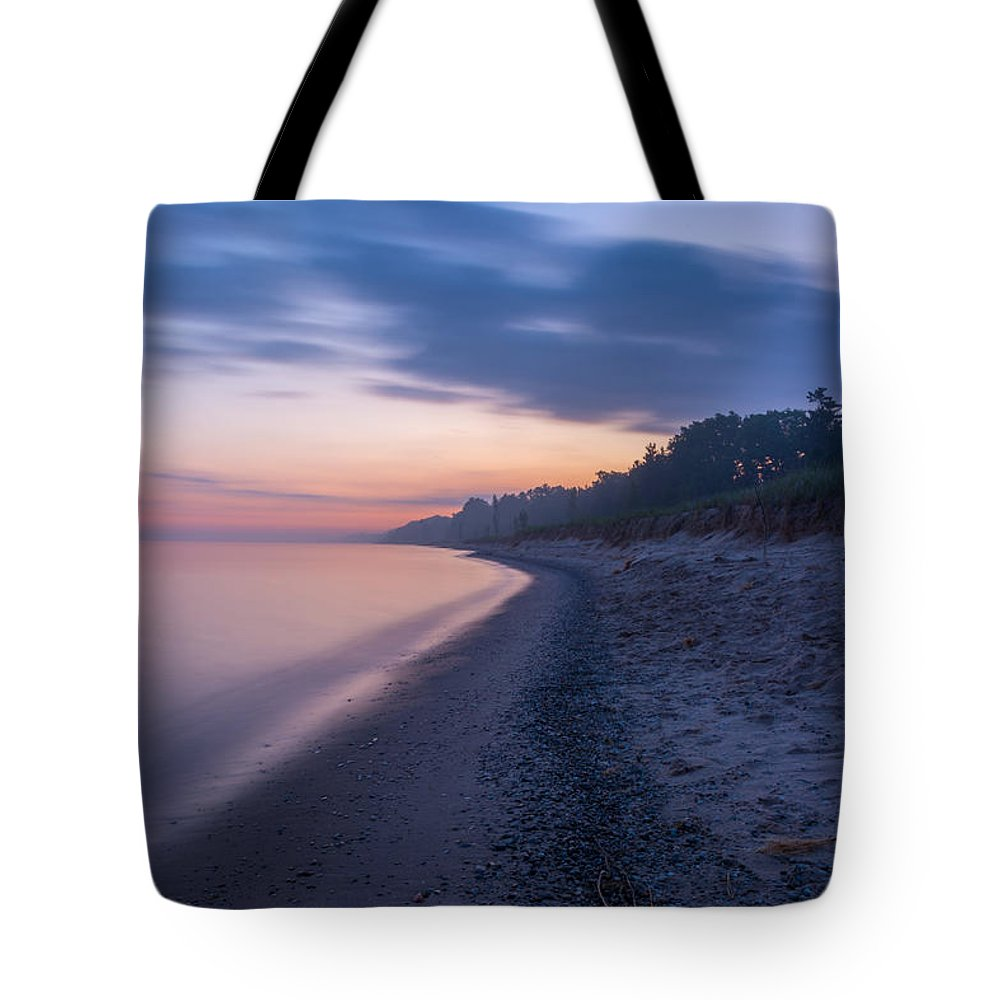 Lake Michigan Tote Bag featuring the photograph Lake Michigan Morning 2 by Pravin Sitaraman