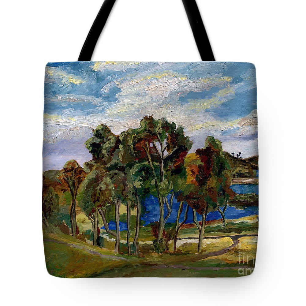 Landscape Tote Bag featuring the painting Lake Murray by Robert Paulson