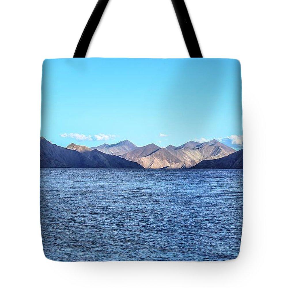 Beautiful Landscape Tote Bag featuring the photograph Lake Pangong by Anupam Gupta