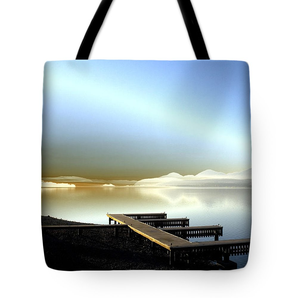 Landscape Tote Bag featuring the photograph Lake Pend D'oreille Fantasy by Lee Santa