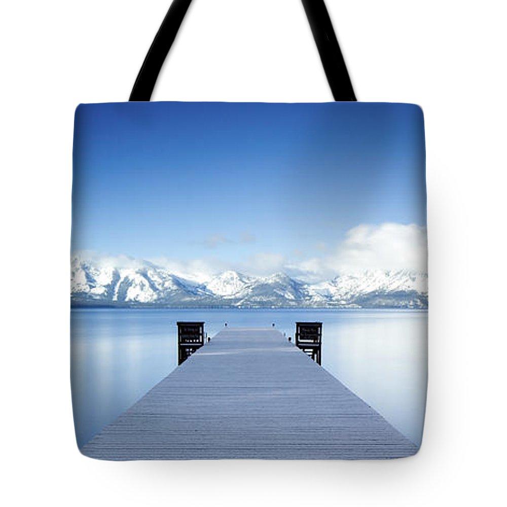 Lake Tote Bag featuring the photograph Lake Tahoe Panorama by Matthew Train