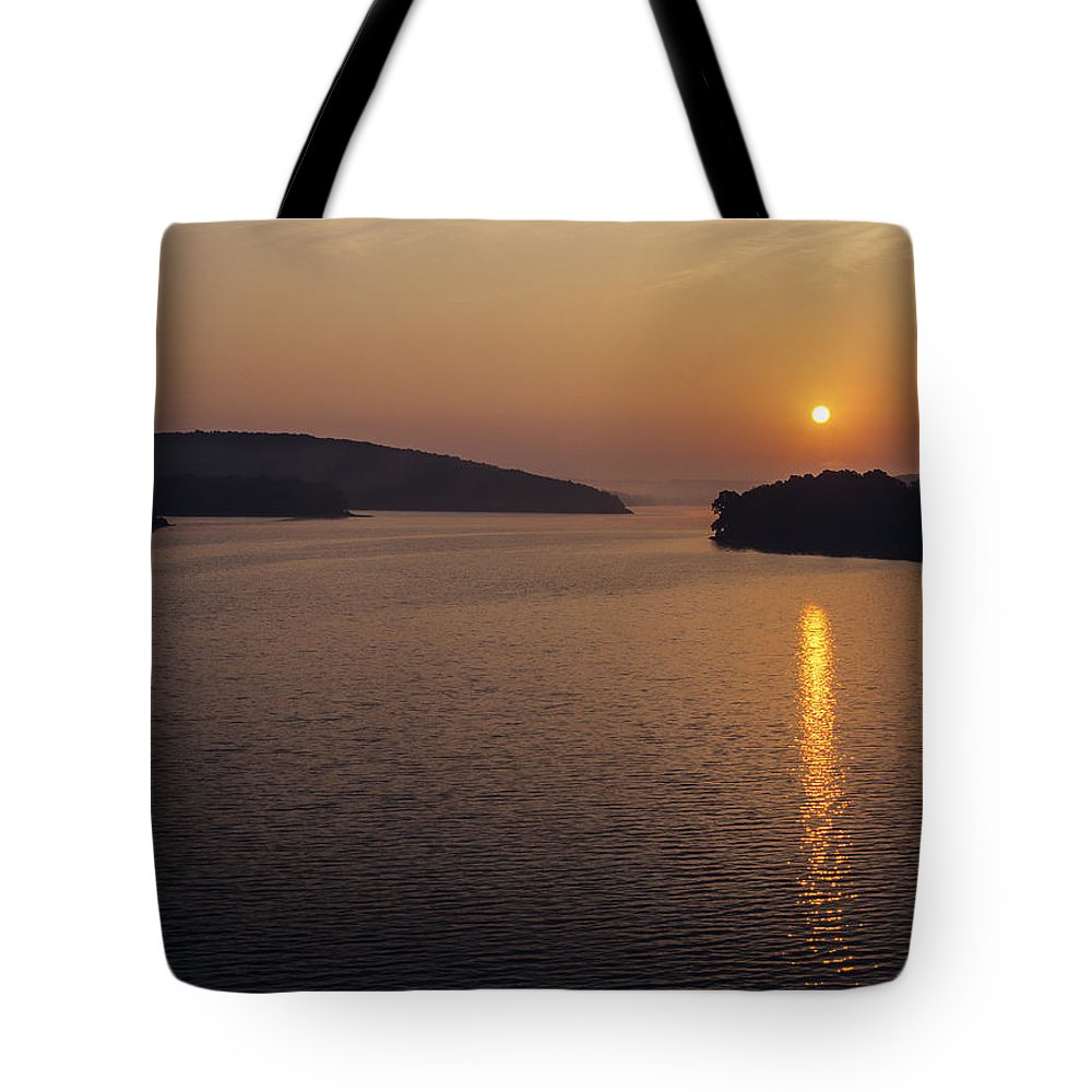 Lake Tenkiller Tote Bag featuring the photograph Lake Tenkiller by Robert Potts
