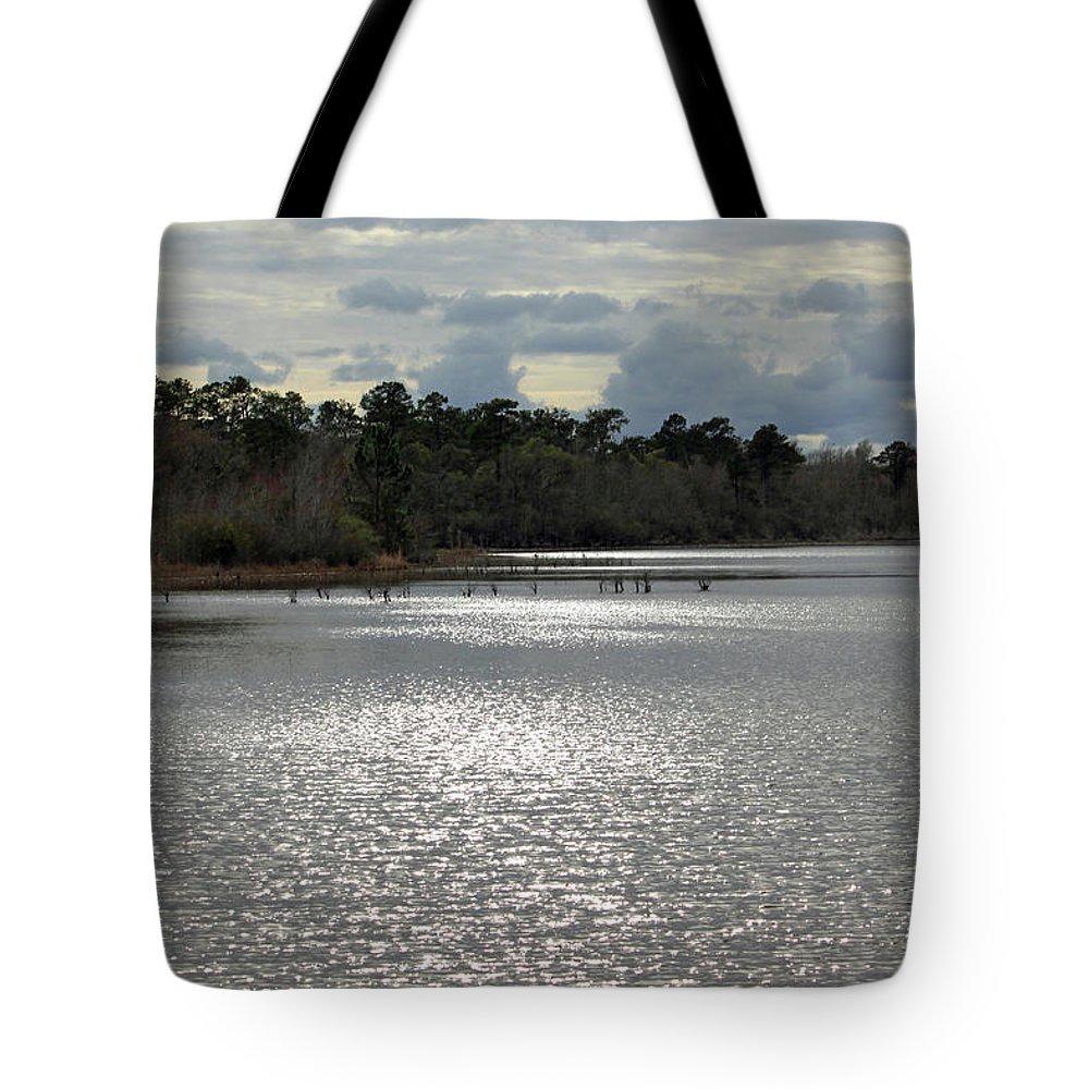 Lake Waccamaw Tote Bag featuring the photograph Lake Waccamaw II by Suzanne Gaff