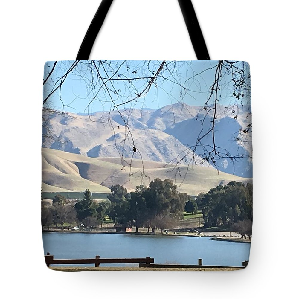 Waterscape Tote Bag featuring the photograph Lakefront by Iva Fendrick