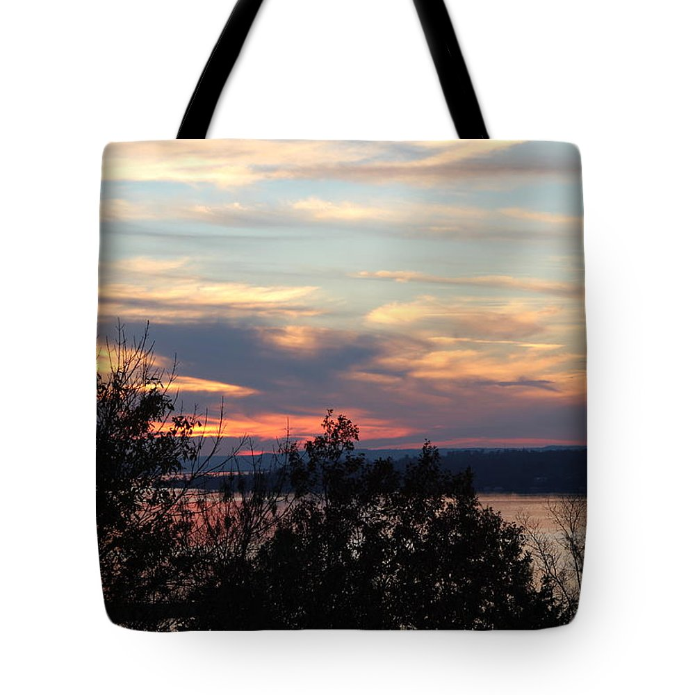 Lakefront Sunset Tote Bag featuring the photograph Lakefront Sunset by Robert Smith