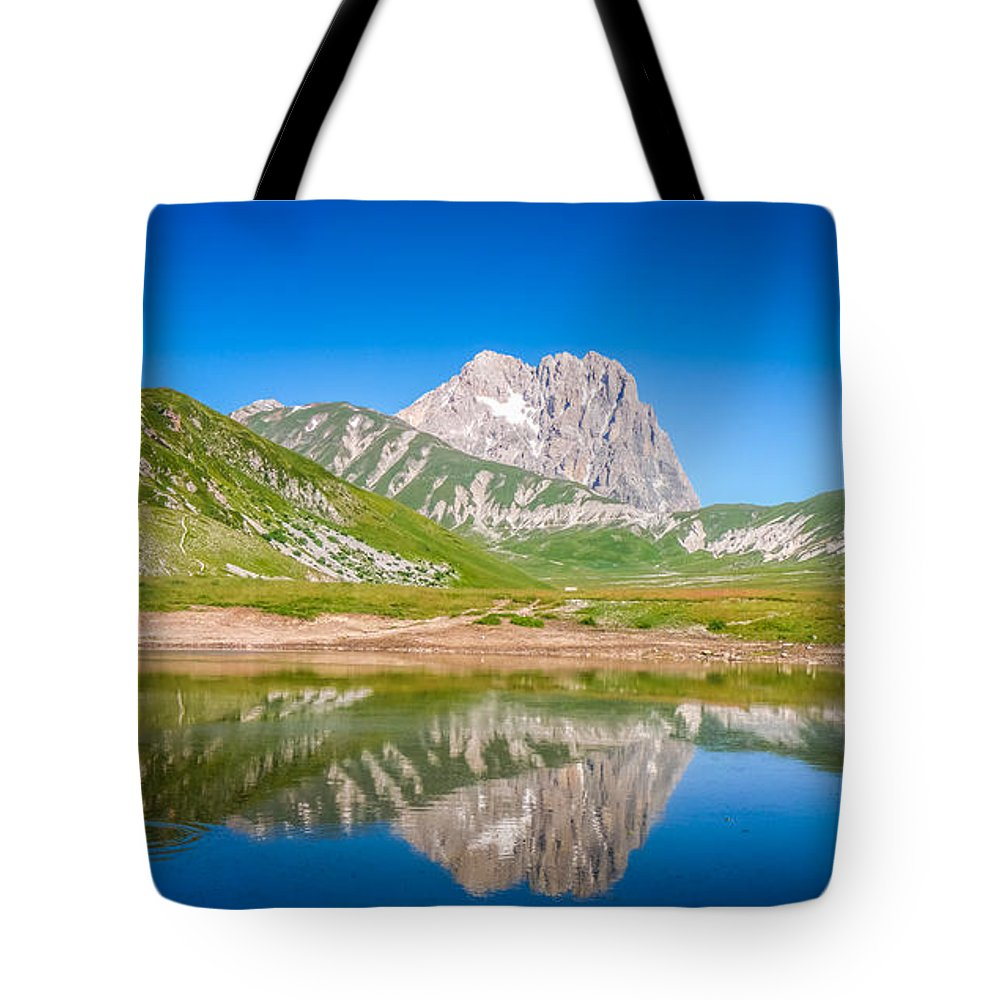 Abruzzo Tote Bag featuring the photograph Lakes And Peaks by JR Photography