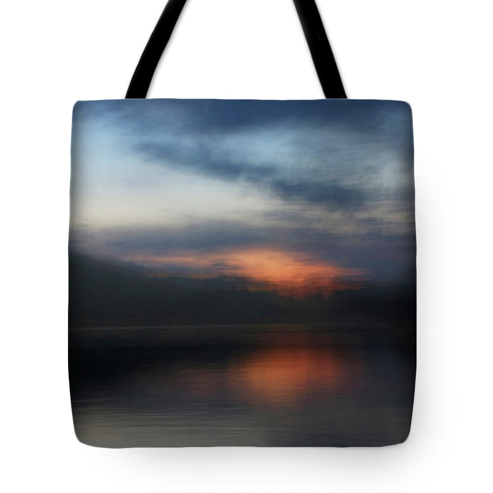 Lake Tote Bag featuring the photograph Lake's Last Light by Gina Fitzhugh