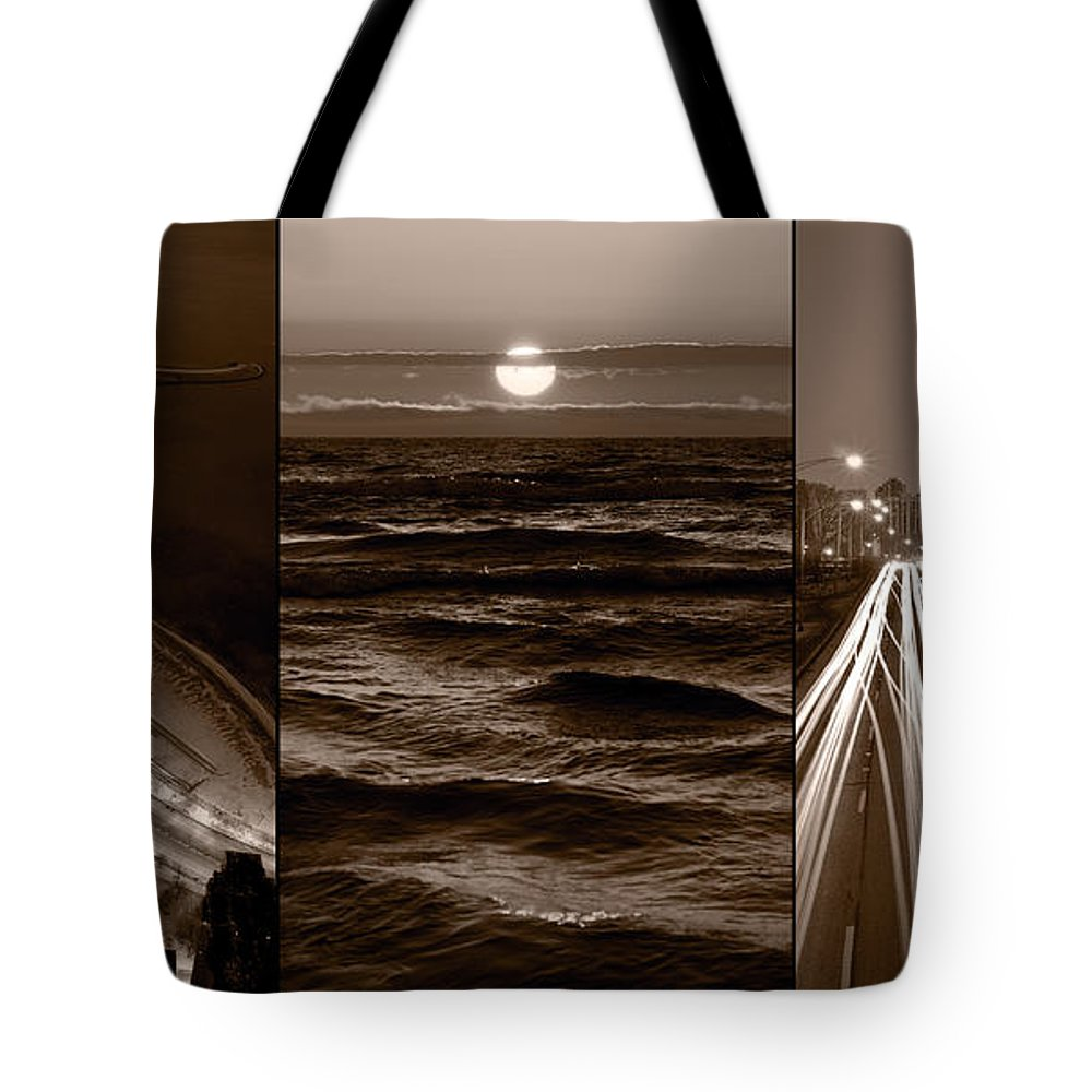 Chicago Tote Bag featuring the photograph Lakeshore Chicago by Steve Gadomski