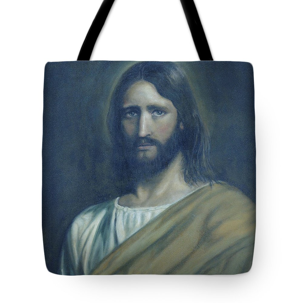 Jesus Christ Tote Bag featuring the painting Lamb Of God by Jaren Johnson